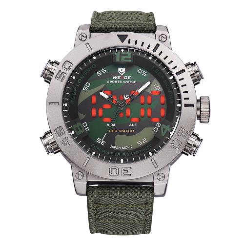 Pánské masivní hodinky Weide - Maskáčové  47b3492804