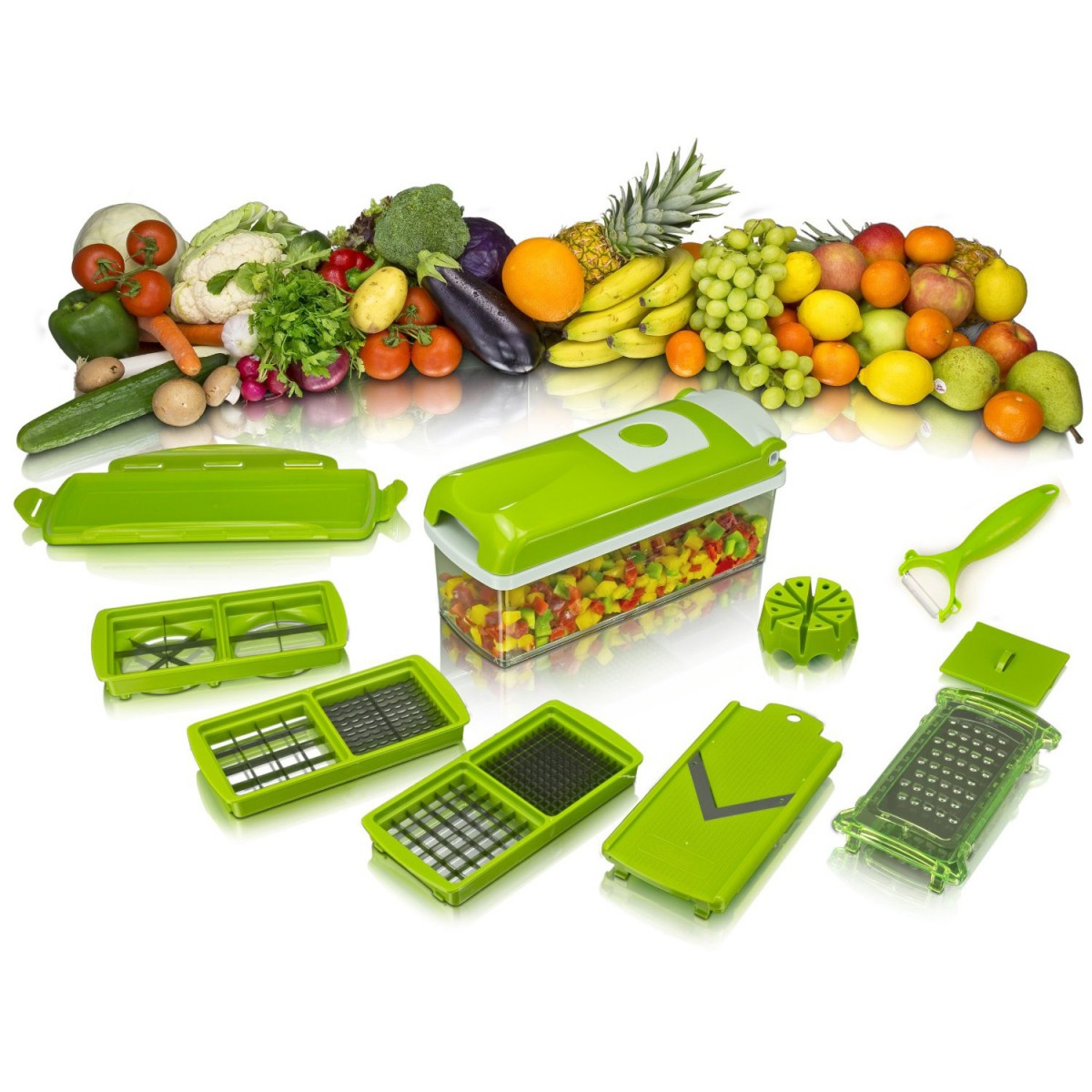 Multifunkční kráječ na přípravu potravin - 10 dílná sada