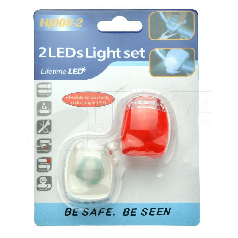 2x LED světlo na kolo - silikonové