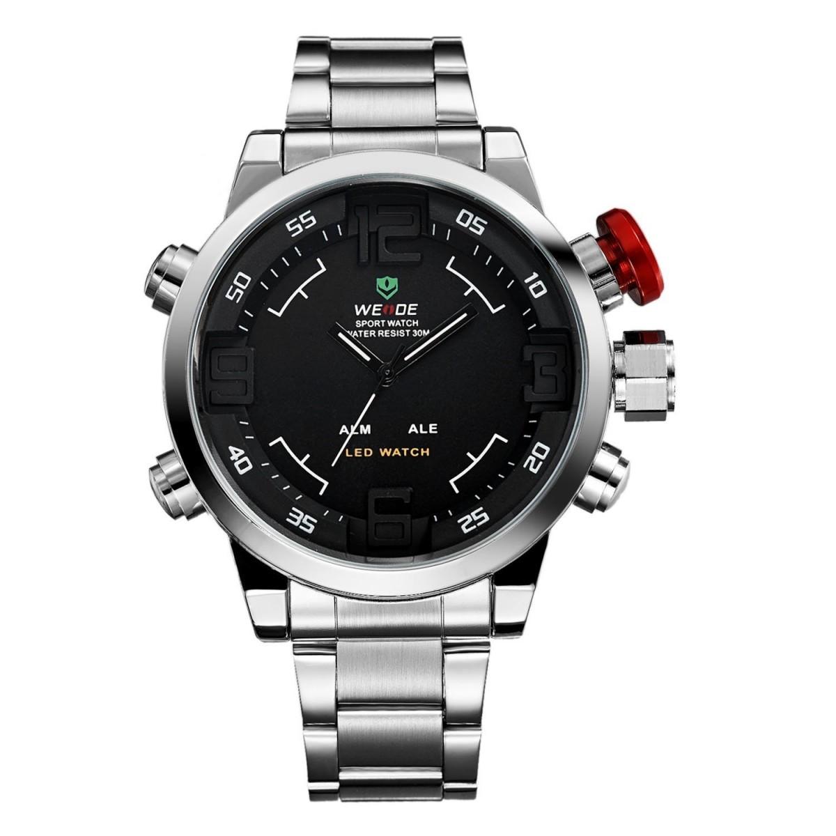 Levně Pánské hodinky Weide Hard - Stříbrno-černé