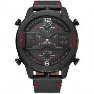 Pánské masivní hodinky Weide Luxury - Červené