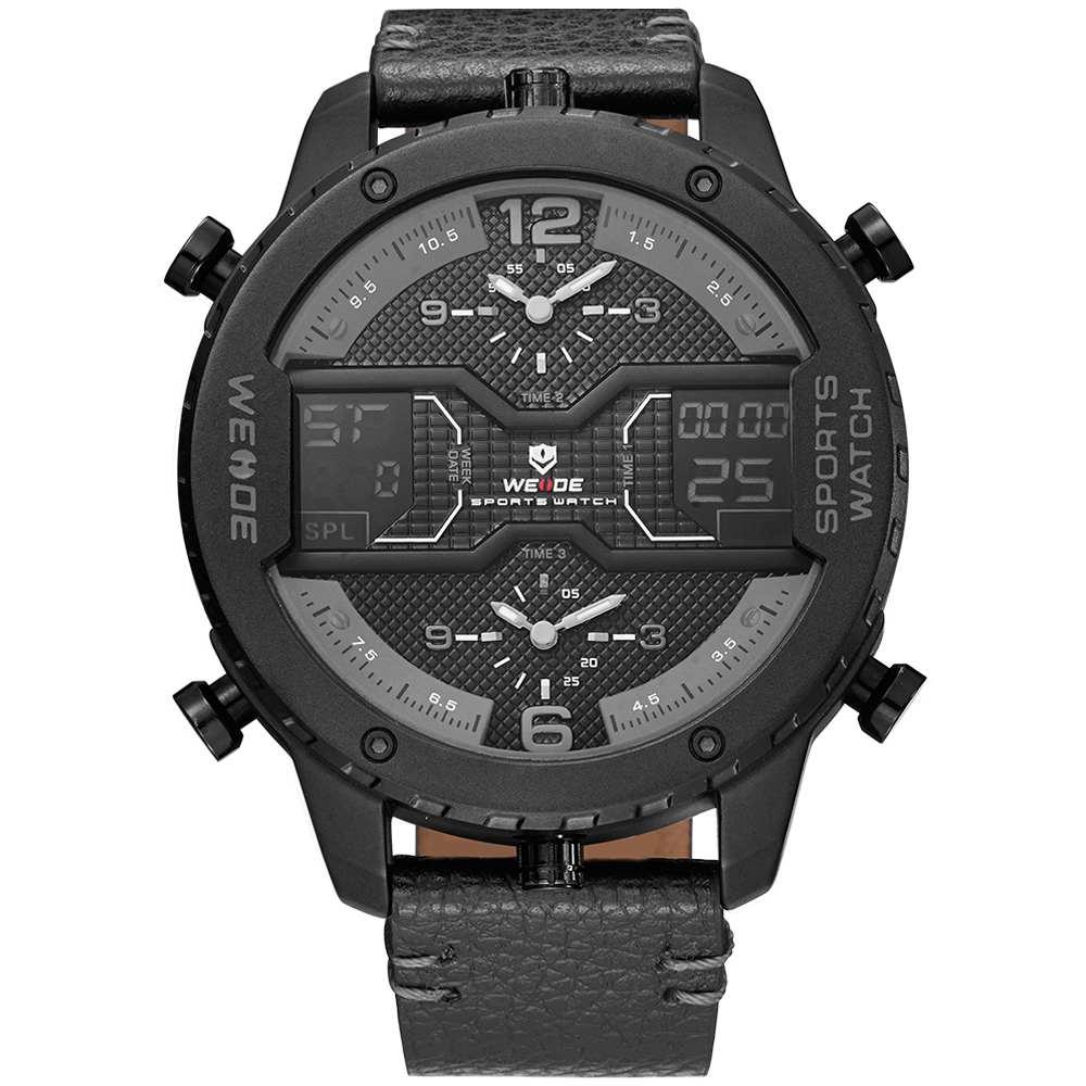 Pánské masivní hodinky Weide Luxury - Šedé  16f06a9074c
