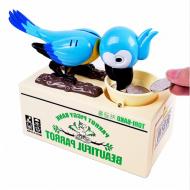 Dětská pokladnička papoušek - Modrá + poštovné jen za 1 Kč