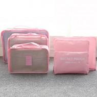 Praktyczne organizery podróżne - zestaw 6szt - kolor różowy + opłata pocztowa tylko 1zł