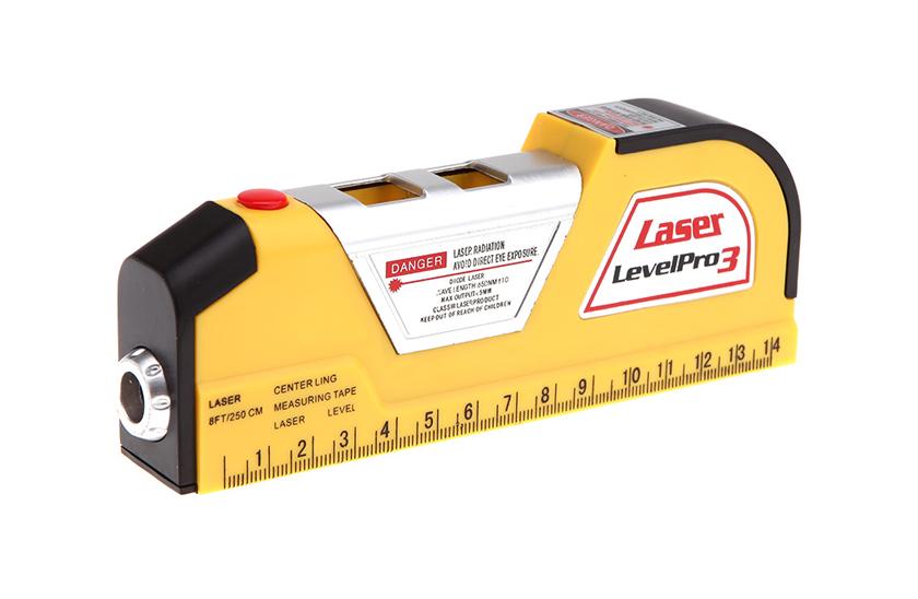 Laserová vodováha Level Pro 3 se svinovacím metrem