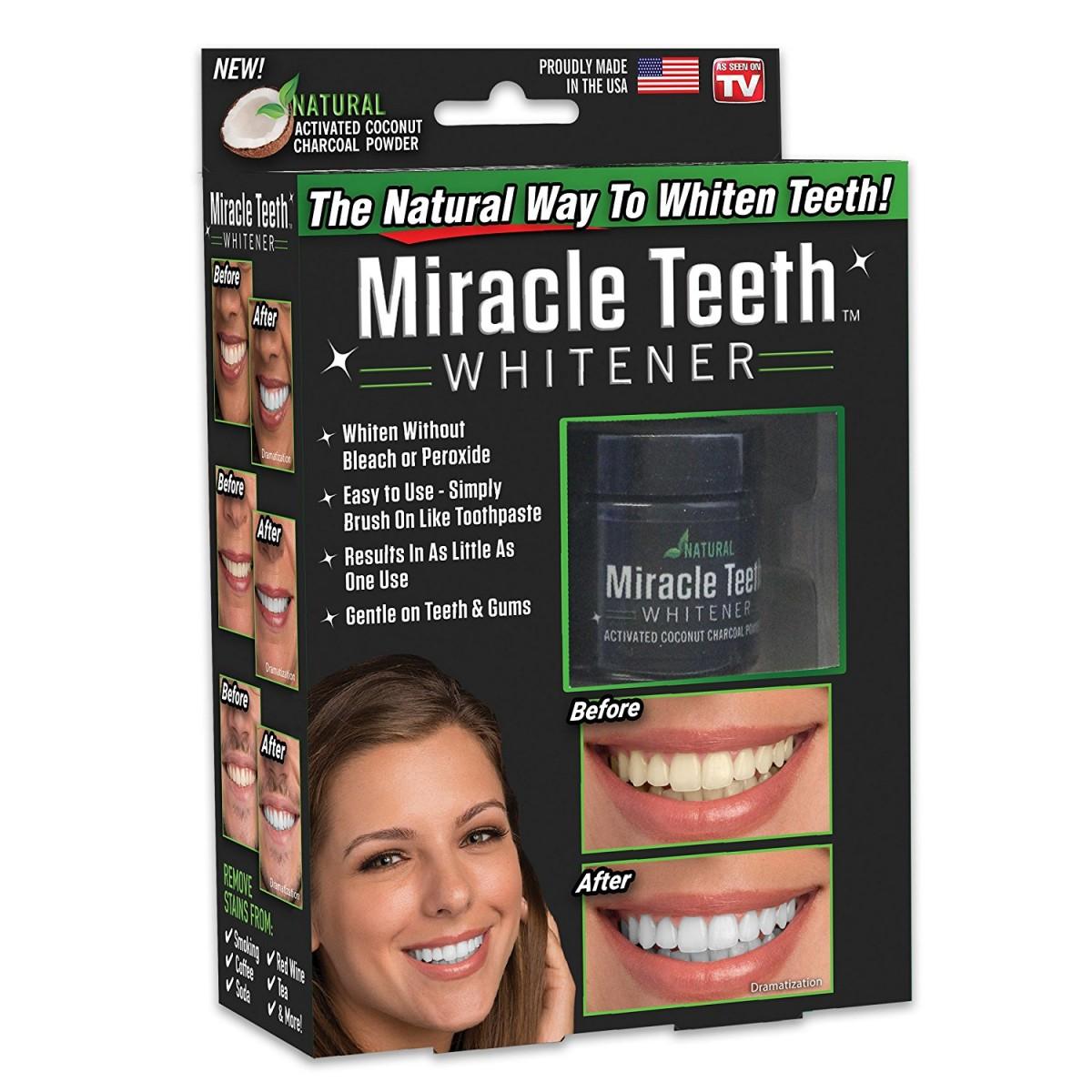 Miracle Teeth - přírodní uhlí pro bělení zubů