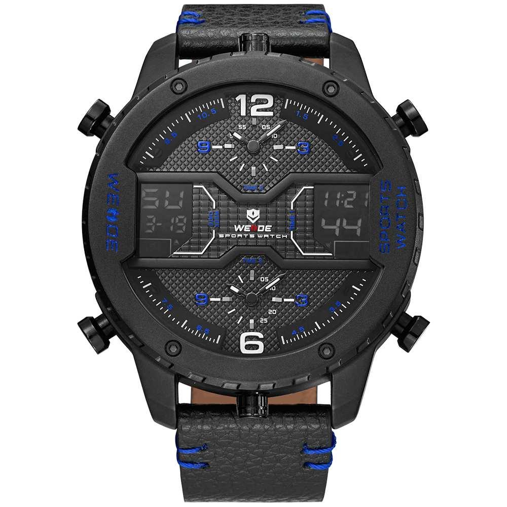 Levně Pánské masivní hodinky Weide Luxury - Modré
