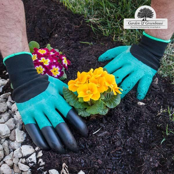 Zahradnické rukavice se čtyřmi drápy Garden & Greenhouse