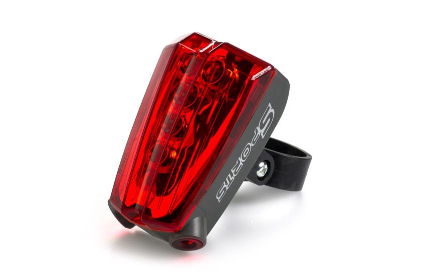 LED světlo s laserem - Na kolo nebo motorku