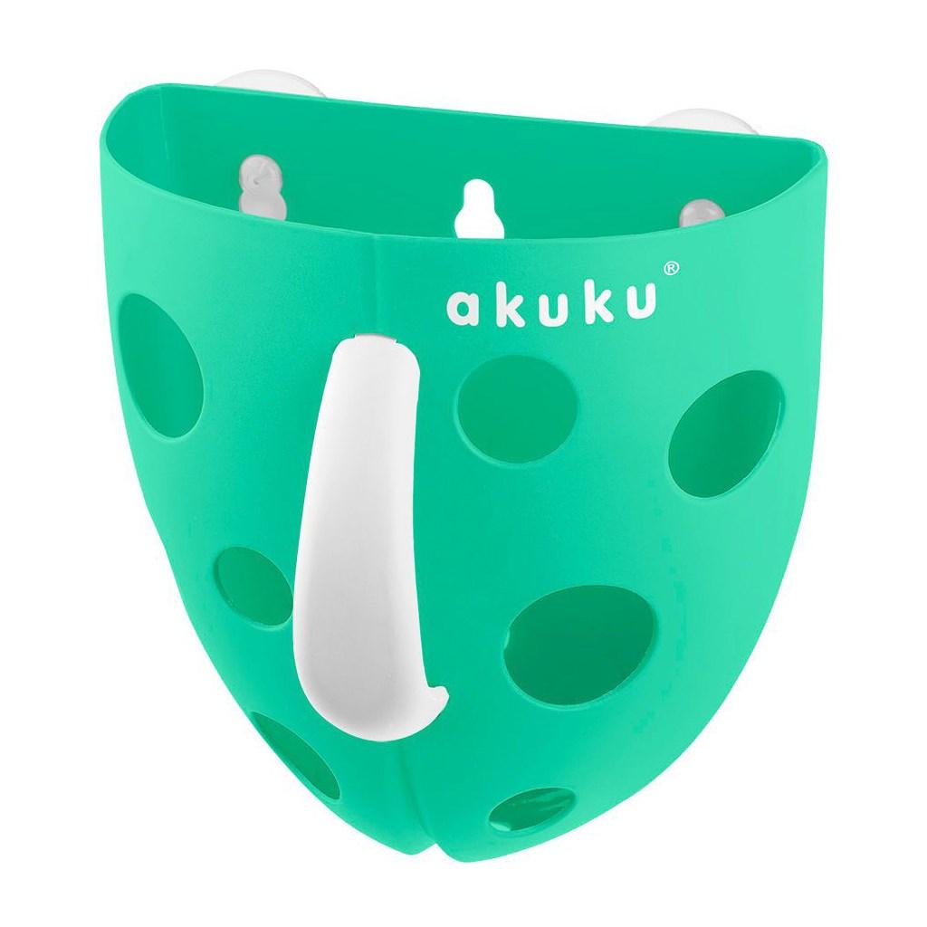 Plastový box na hračky do vany Akuku mátový   Velikost: