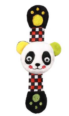 BabyOno Plyšové chrastítko na ruku Panda Archie, 16 cm