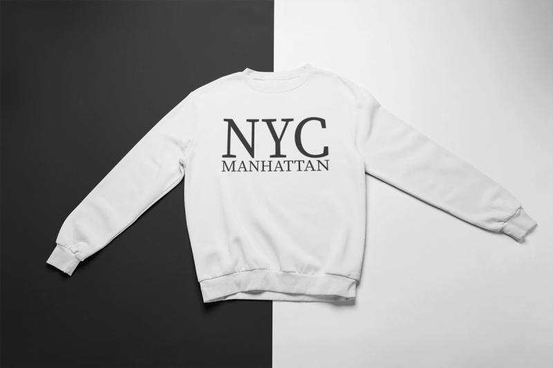 Levně KIDSBEE Super klučičí tepláková mikina Nyc Manhattan - bílá   Velikost koj. oblečení: 128