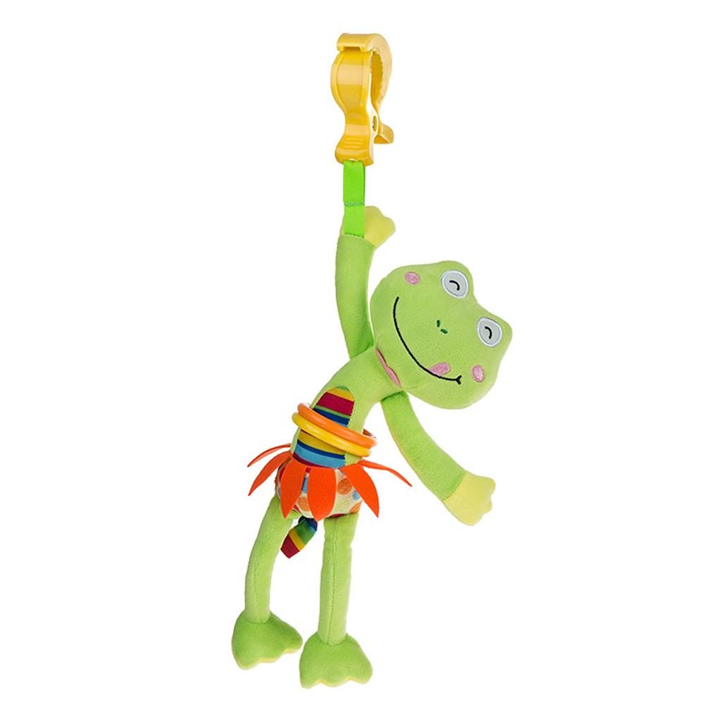 Levně Dětská plyšová hračka s vibrací Akuku žabka   Velikost: