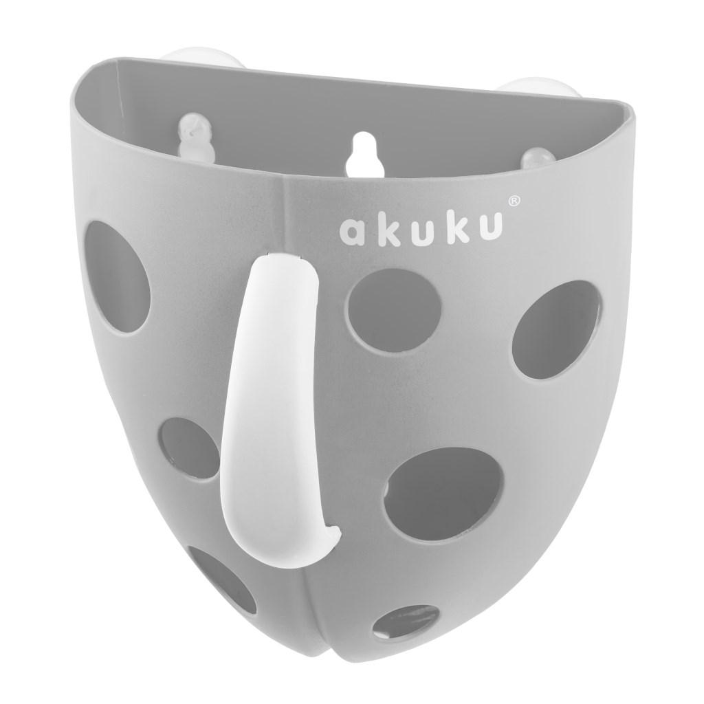Plastový box na hračky do vany Akuku šedý