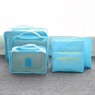 Praktyczne organizery podróżne - zestaw 6szt - kolor jasnoniebieski + opłata pocztowa tylko 1zł