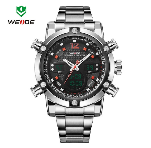 Pánské hodinky Weide - WH5205 - Červené  583b09172a7