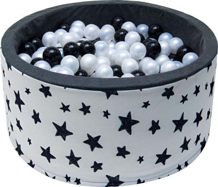 Bazén pro děti 90x40cm - tmavé hvězdy s balónky, D19