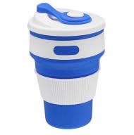 Összecsukható szilikon pohár - kék + postaköltség csak 1 Ft