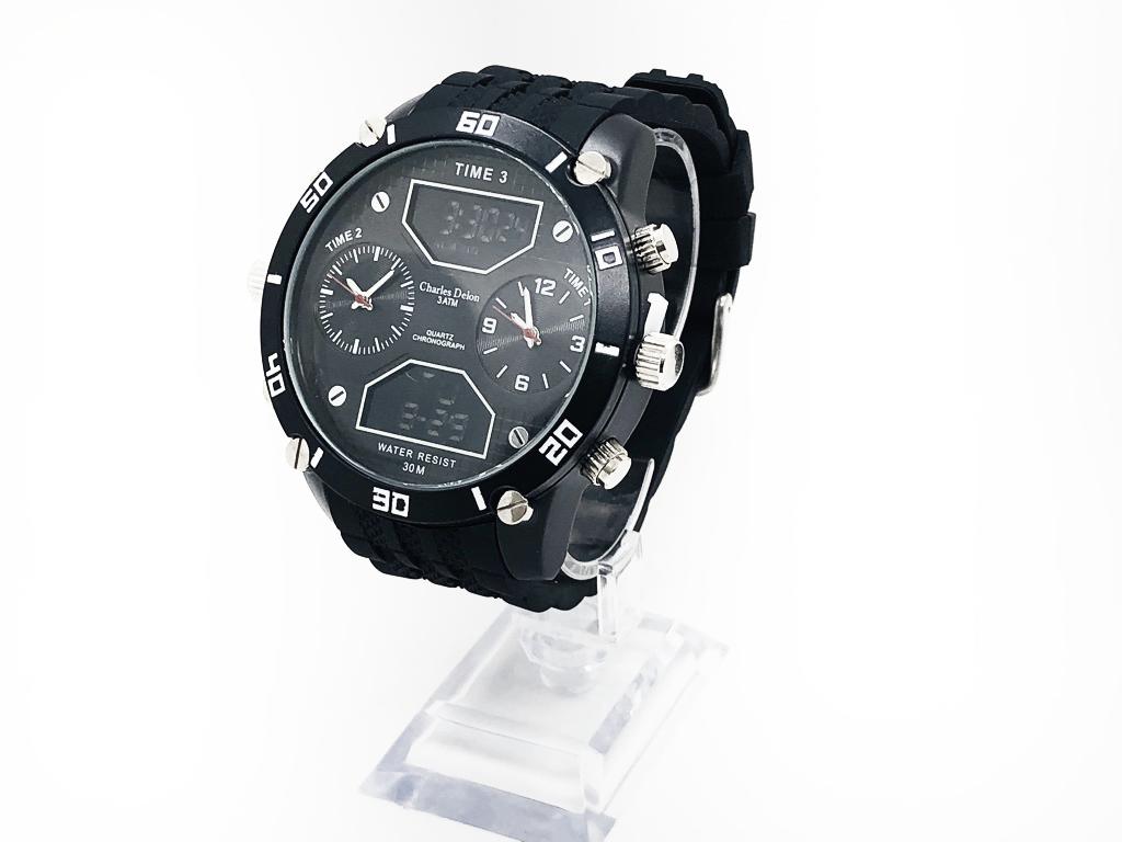 Levně Pánské hodinky Charles Delon - Černé 5761
