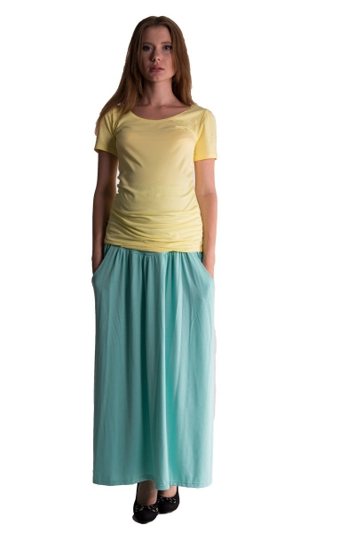 Maxi dlouhá sukně MAXINA - mátová