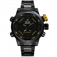 Pánské hodinky Weide Hard - Černo-žluté