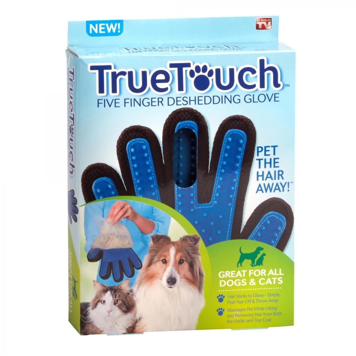 True Touch - vyčesávací rukavice na zvířecí srst