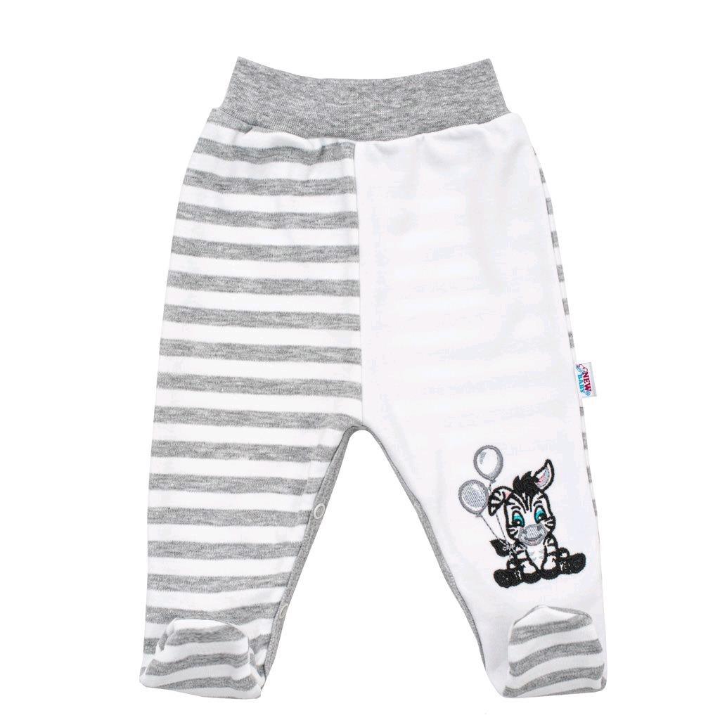 Levně Kojenecké bavlněné polodupačky New Baby Zebra exclusive | Velikost: 62 (3-6m)