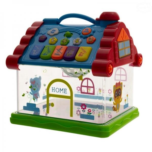 Levně Interaktivní hračka s melodií - Domeček