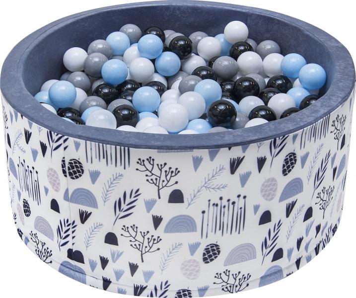 Bazén pro děti 90x40cm - louka, šedý s balónky, D19
