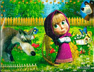 Puzzle 4 Máša a Medveď  21x28 cm