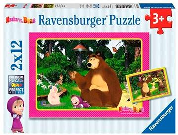 Puzzle Máša a Medveď 2v1 2x12 dielikov