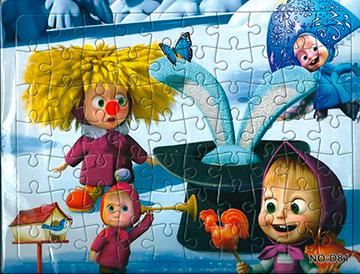 Puzzle 3 Máša a Medveď  21x28 cm