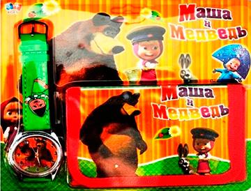 Hodinky s peňaženkou 2 Máša a Medveď