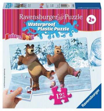 Ravensburger Puzzle 3 Máša a medveď 12 plast. dielikov