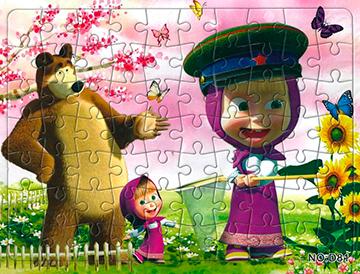 Puzzle 6 Máša a Medveď  21x28 cm