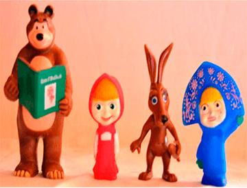 Sada plastových hračiek 1 Máša a Medveď