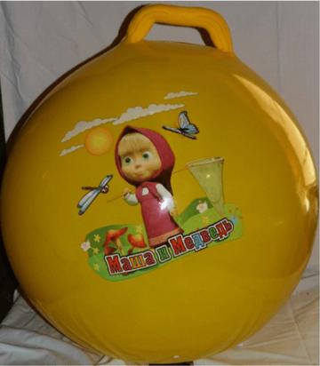 Balor.eu Skákacia lopta Maša a Medveď žltá 60 cm