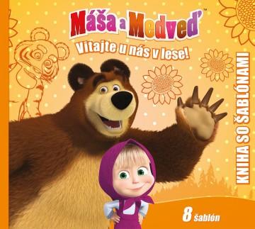 Egmont Máša a medveď Kniha šablón