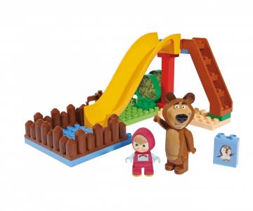 PlayBIG BLOXX Stavebnica Máša a medveď Detské ihrisko