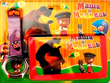 Hodinky s peňaženkou 1 Máša a Medveď