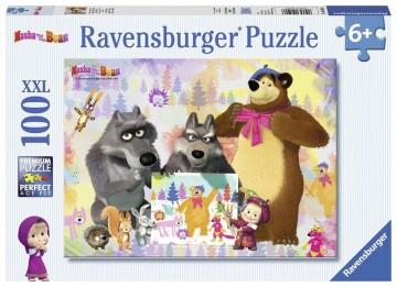 Ravensburger Puzzle Máša a medveď 100 dielikov
