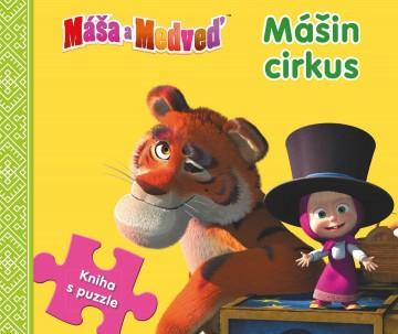 Egmont Kniha z puzzle Máša a medveď Mášin cirkus