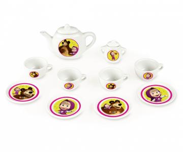 Smoby Máša a medveď Kávový porcelánový servis