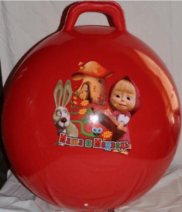 Balor.eu Skákacia lopta Maša a Medveď červená 60 cm