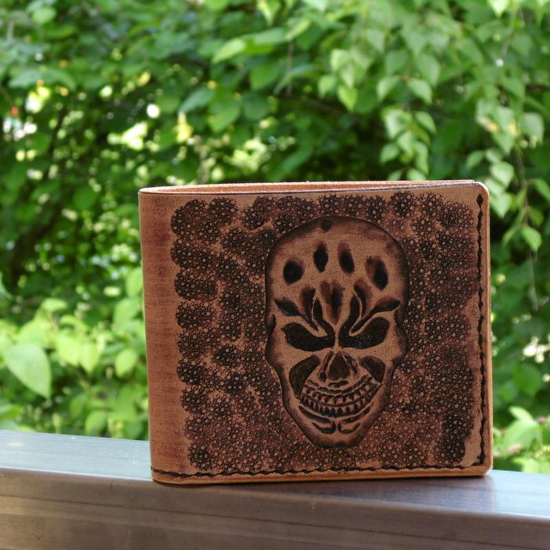 Pánská peněženka - skull antiq