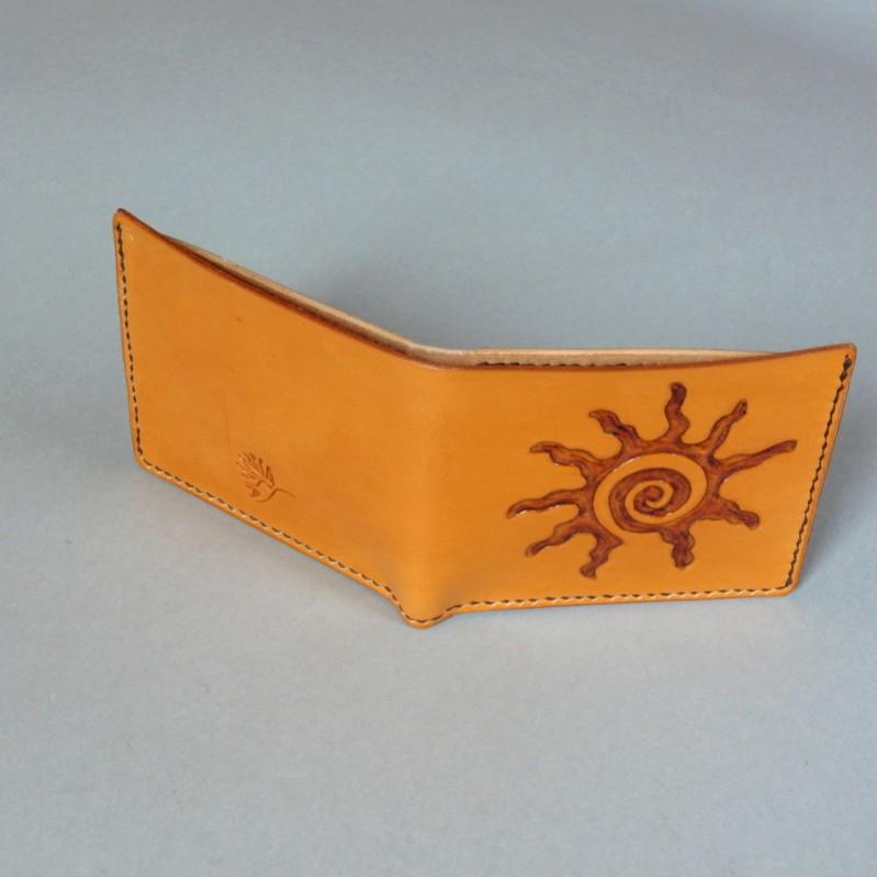 Pánská peněženka - spiral sun saddle tan