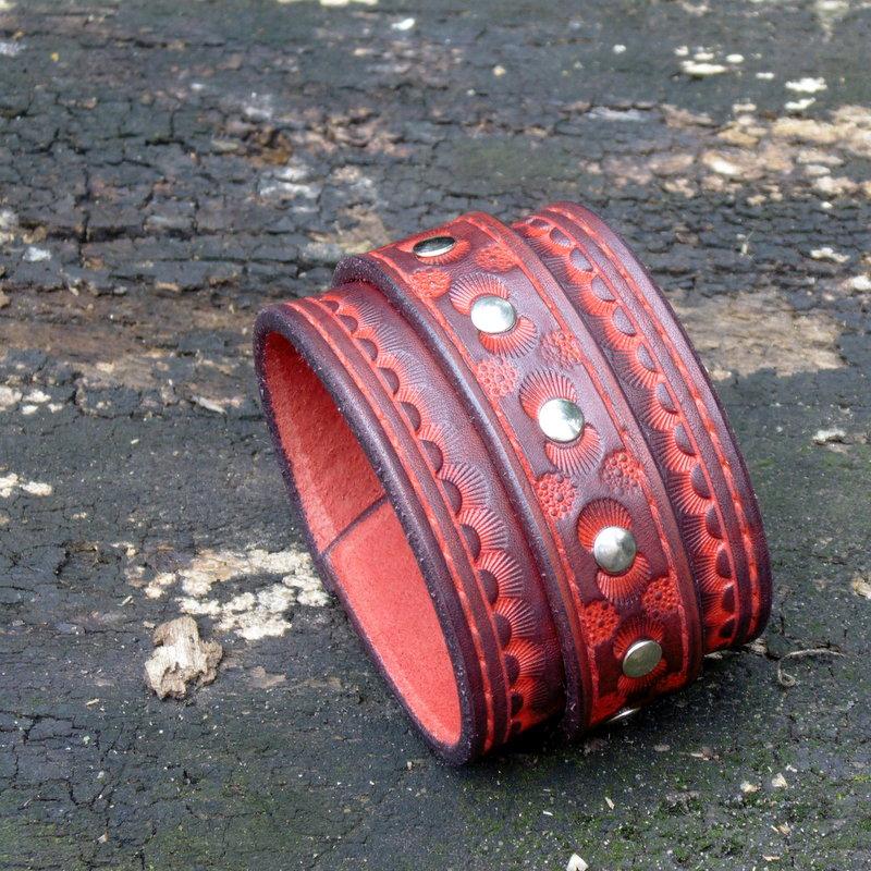 Gipsy 54 kožený náramek s páskem