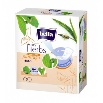 Vložky BELLA Herbs Plantago Sensitive slipové 60 ks