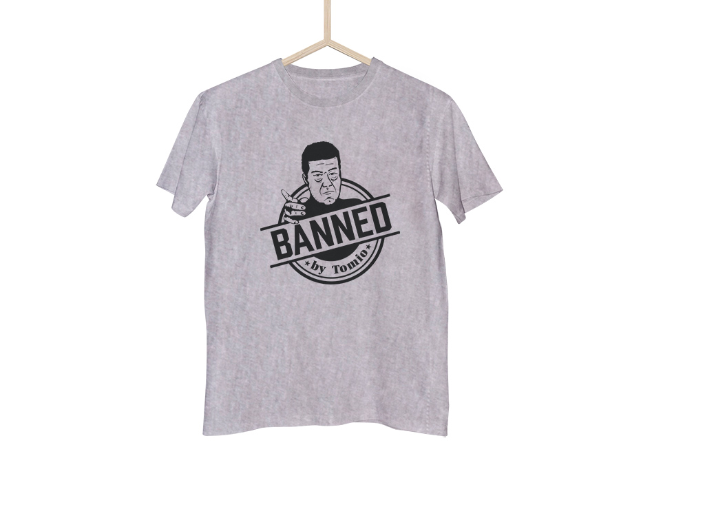 Šedé tričko BANNED classic - S