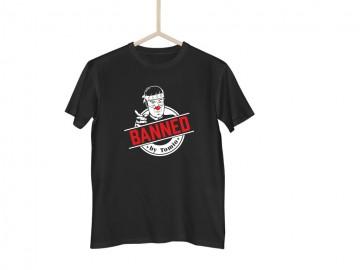 Černé tričko BANNED japonská verze - L
